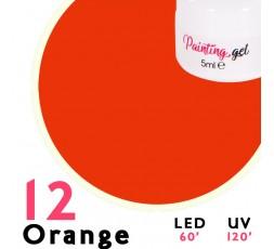 Gel Painting Orange